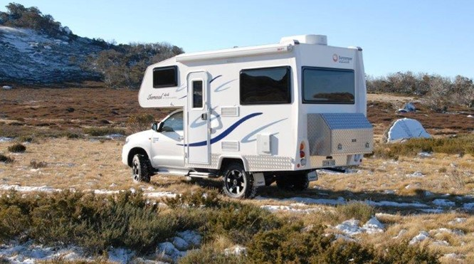4WD motorhome with toilet